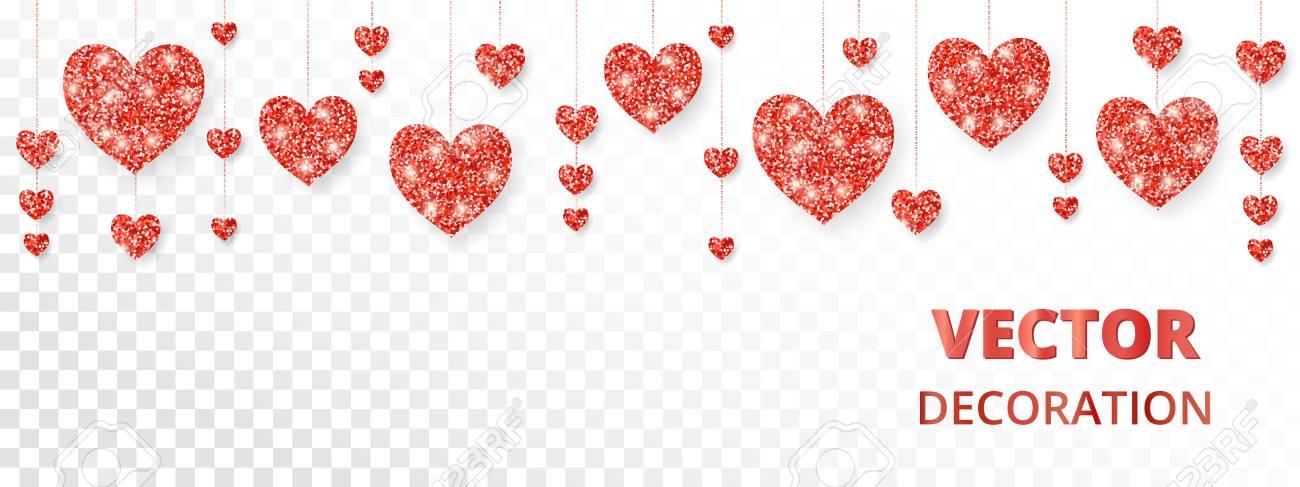 Red hearts frame border vector glitter isolated on white great red hearts frame border vector glitter isolated on white great for decoration of stopboris Gallery