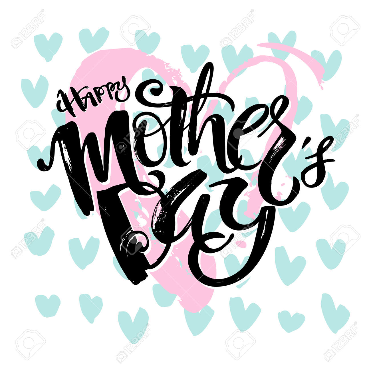 Mothers Day Concept Hand Lettering Motivation Poster Artistic