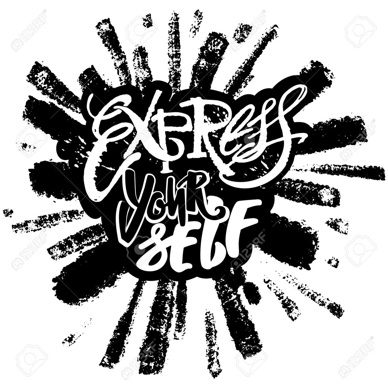 Express Yourselflieve And Do Create Art Motivatorhand Lettering