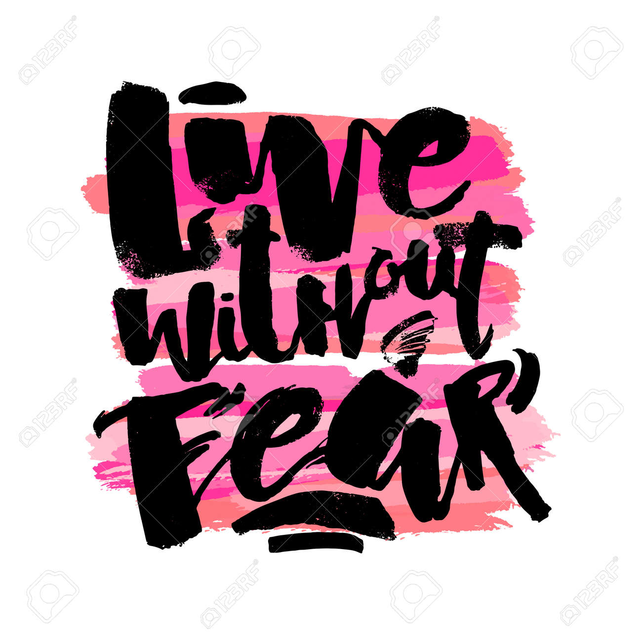 Lettering live without fear poster handdrawn sign greeting lettering live without fear poster handdrawn sign greeting cards invitations posters m4hsunfo