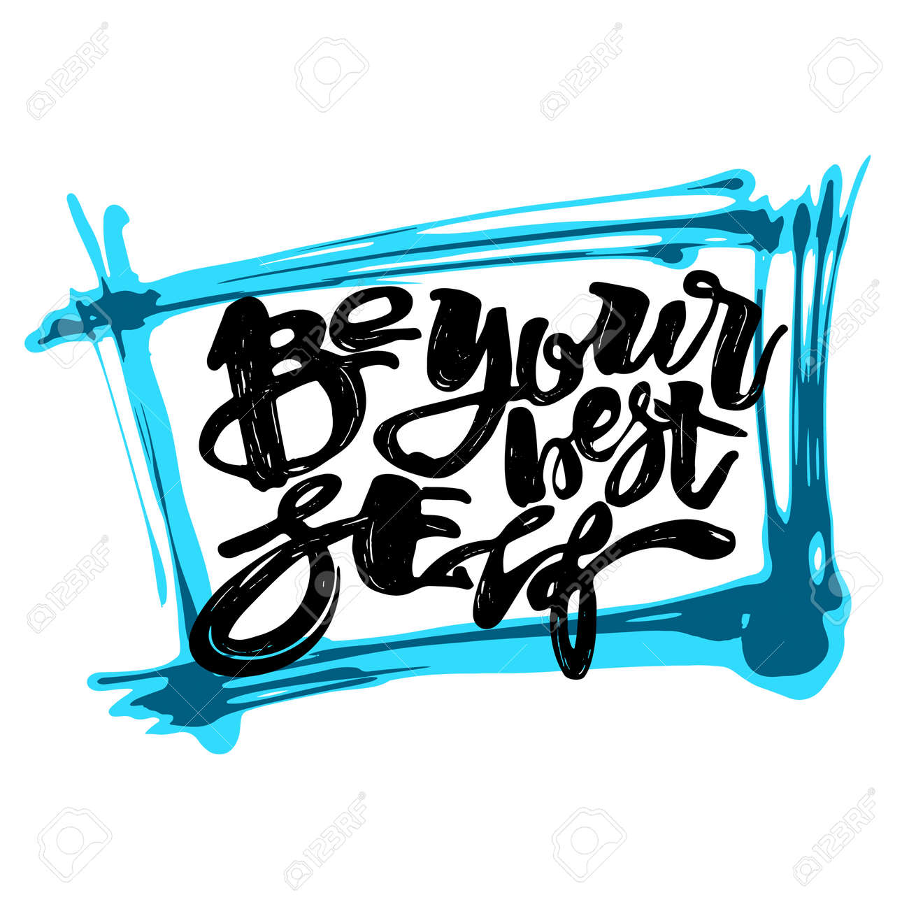 Design poster yourself - Be Yourself Graffiti Hand Lettering Motivation Poster Handdrawn Design Greeting Cards Invitations