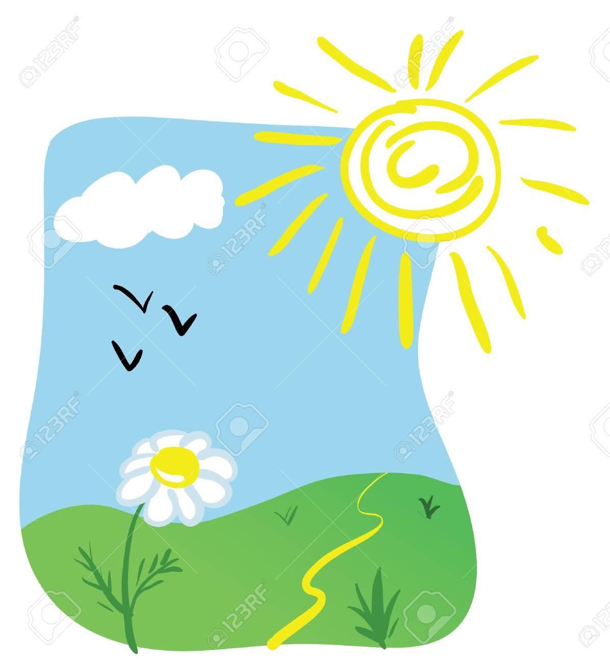 Dibujos Animados de Sol y Nubes Sol y Nubes Dibujo