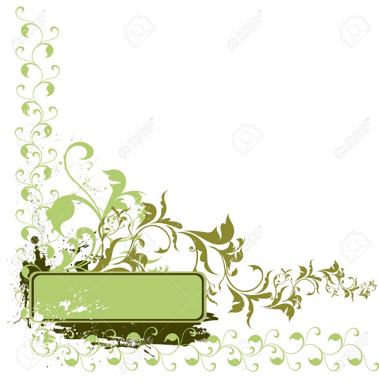 Grunge floral background with copy space Stock Vector - 4361665