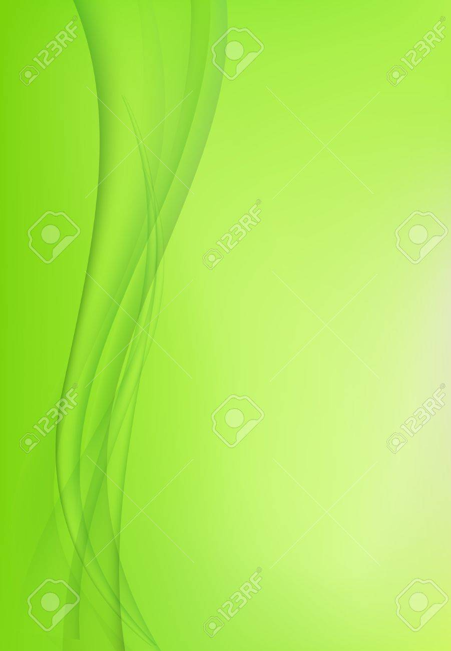 Abstract green background with waves Stock Vector - 12014527