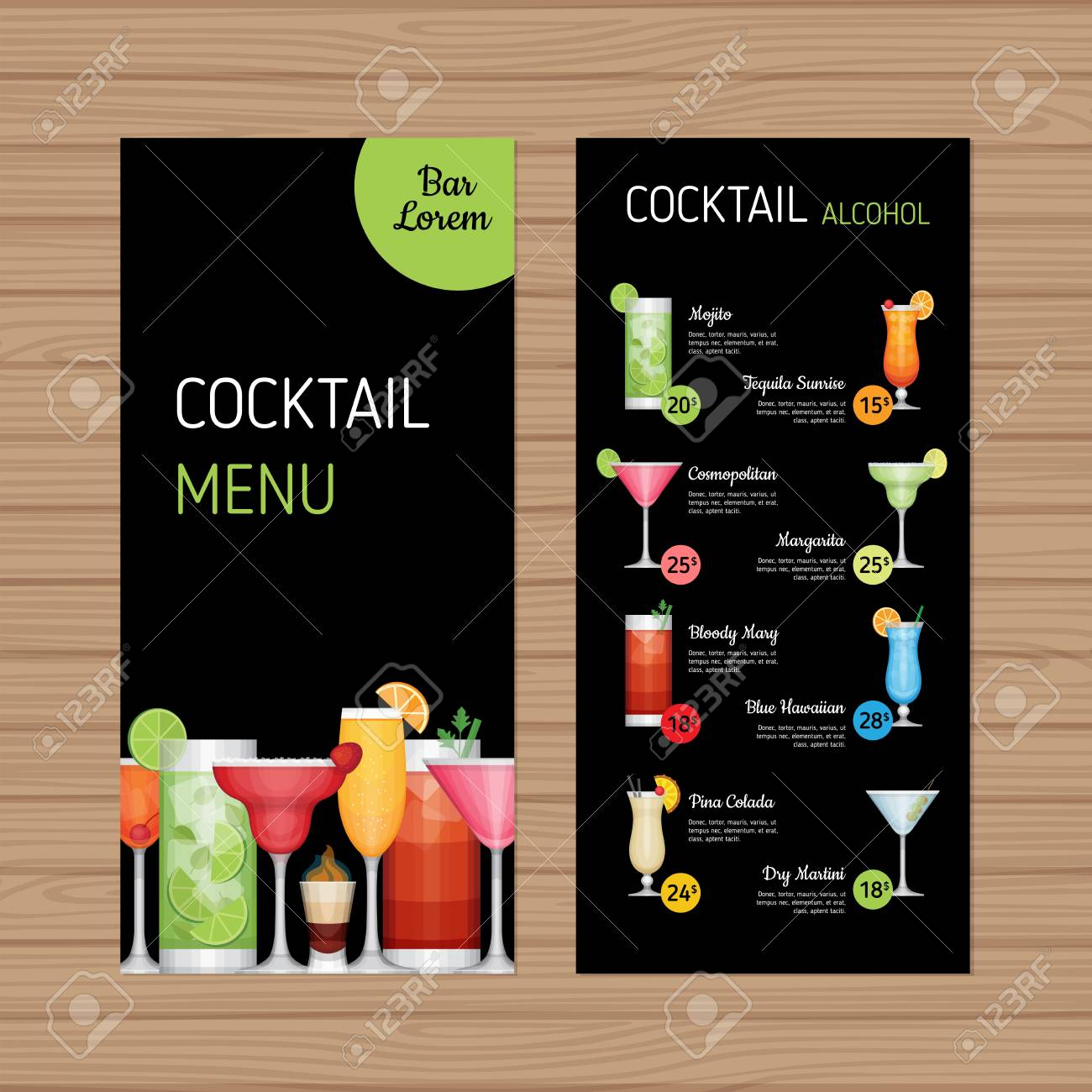 drink menu design. royalty free cliparts, vectors, and stock