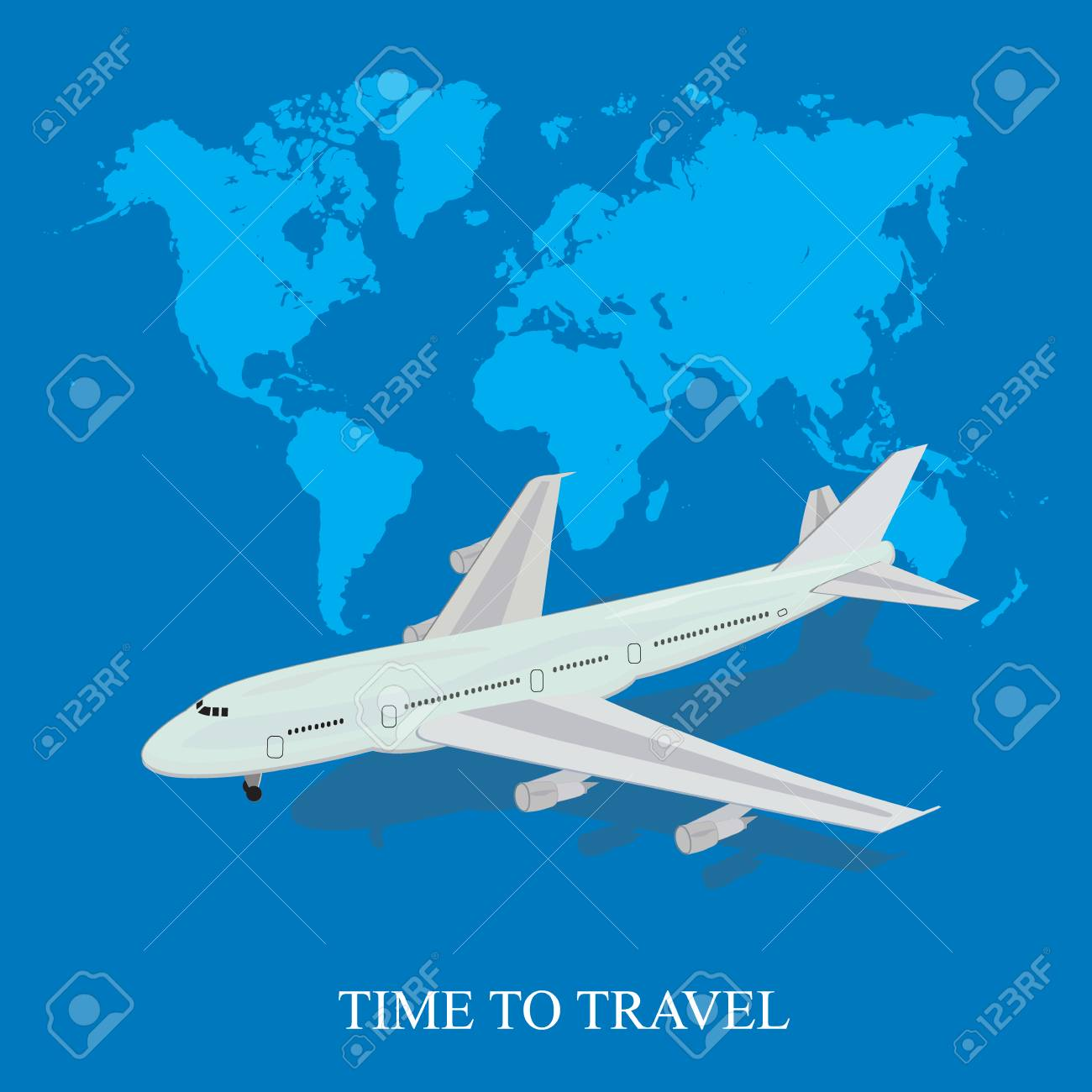 Travel background airplane world map vector illustration travel background airplane world map vector illustration in flat design for web gumiabroncs Choice Image
