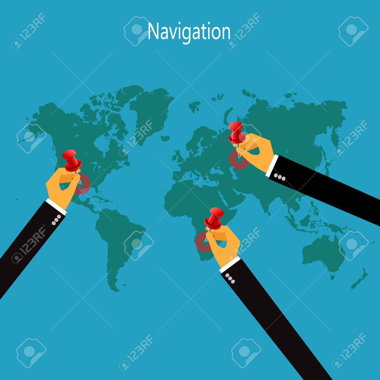World map infographic navigation vector illustration in flat world map infographic navigation vector illustration in flat design for web sites gumiabroncs Choice Image