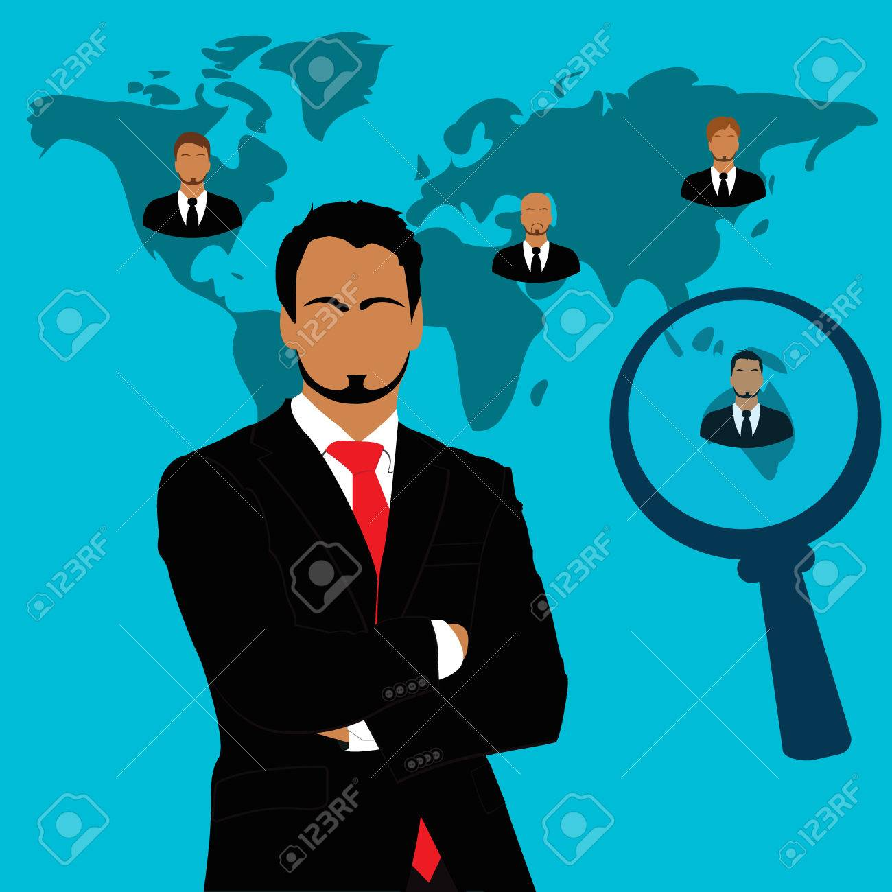 employee recruitment human resource selection interview employee recruitment human resource selection interview analysis stock vector