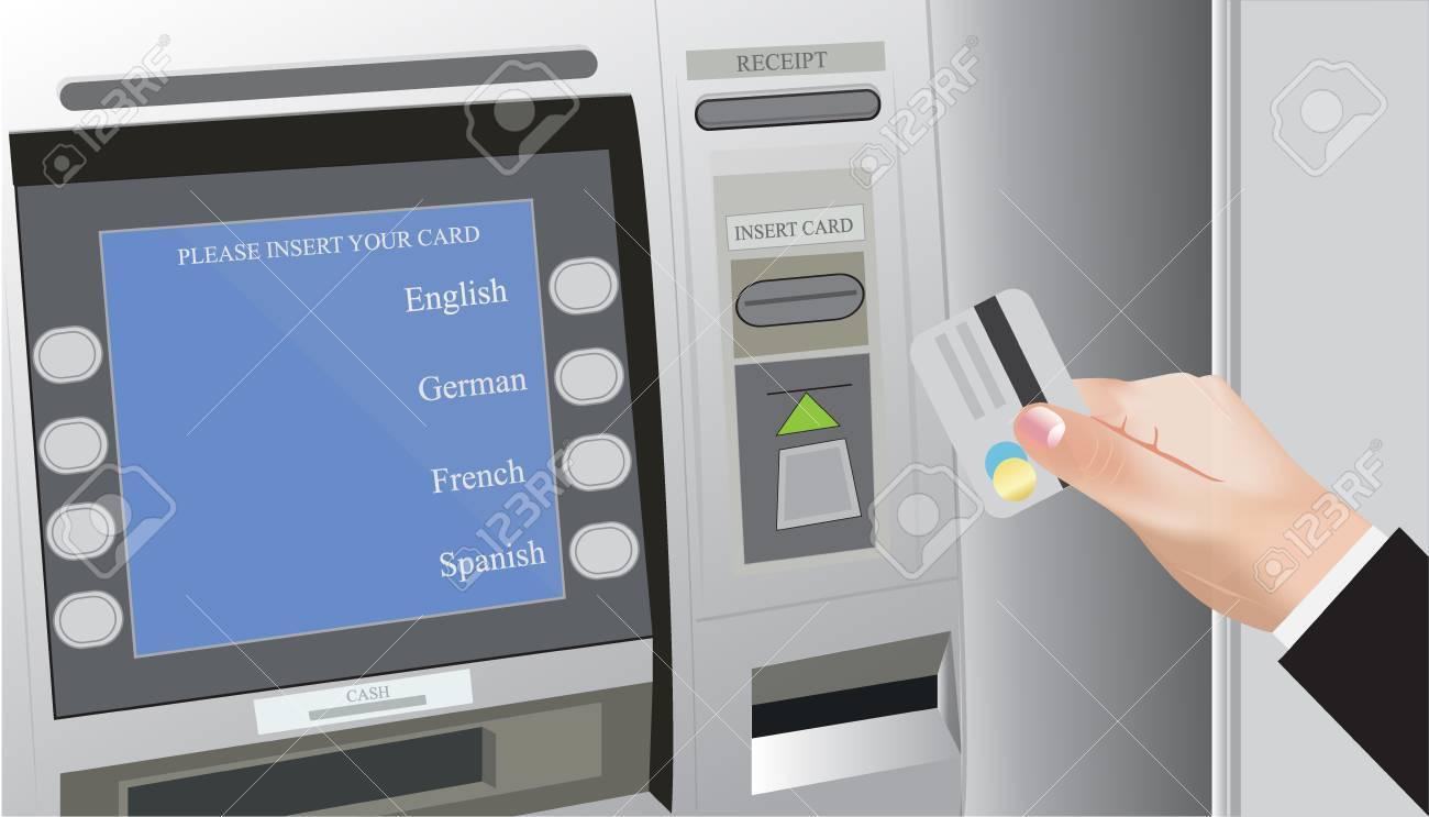 Atm Credit Card Bank Royalty Free Cliparts Vectors And Stock