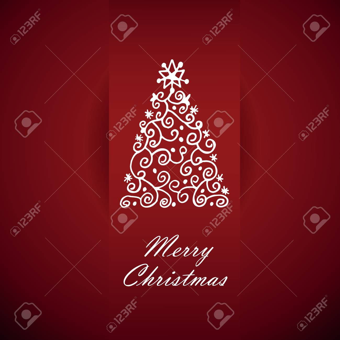 Card With Christmas Greetings Vector Illustration Royalty Free