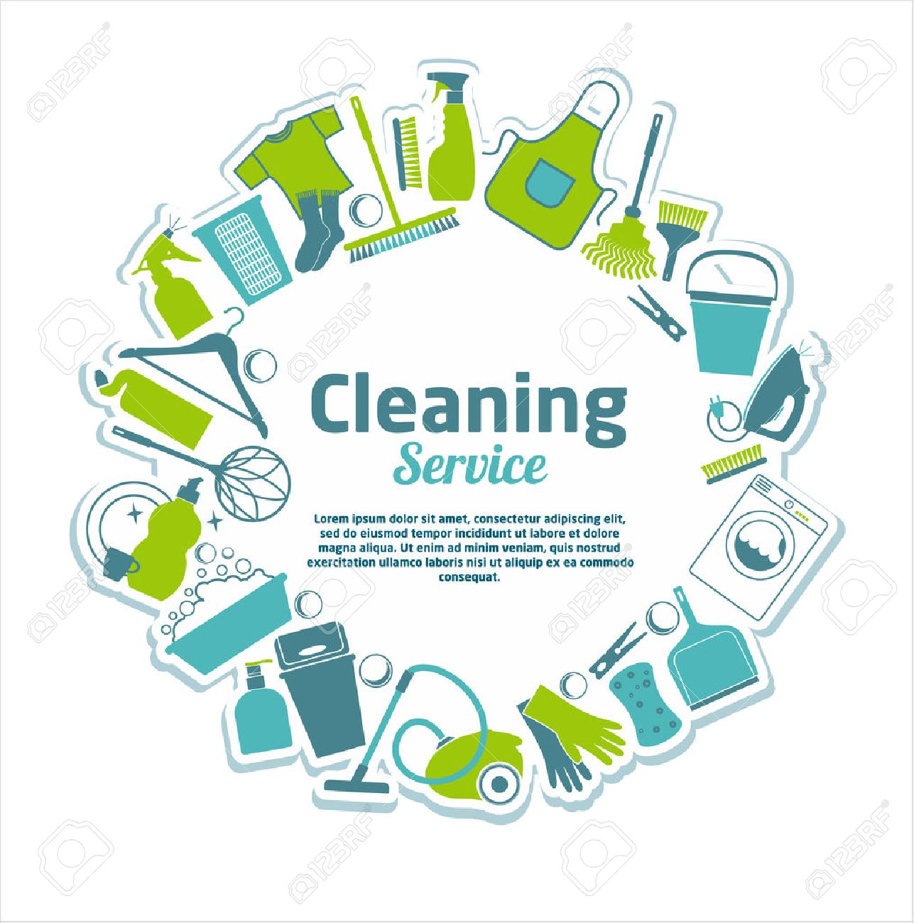 Cleaning service illustration. - 33754122
