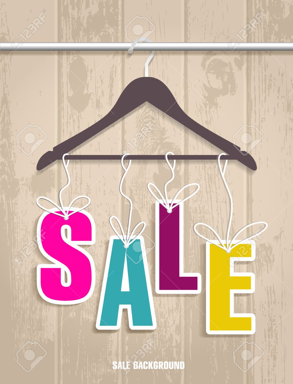 Sale Banner Decoration For Clothes Vector Illulstration Of Shopping Background Stock Vector 38653137