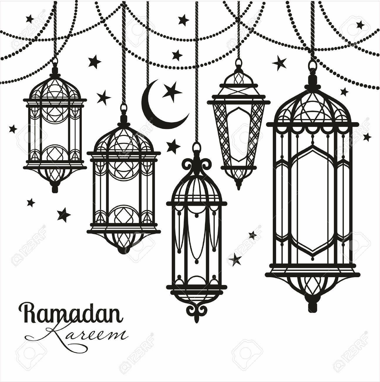 Ramadan Kareem. Islamic Background. Royalty Free Cliparts, Vectors ... for islamic lantern clipart  53kxo