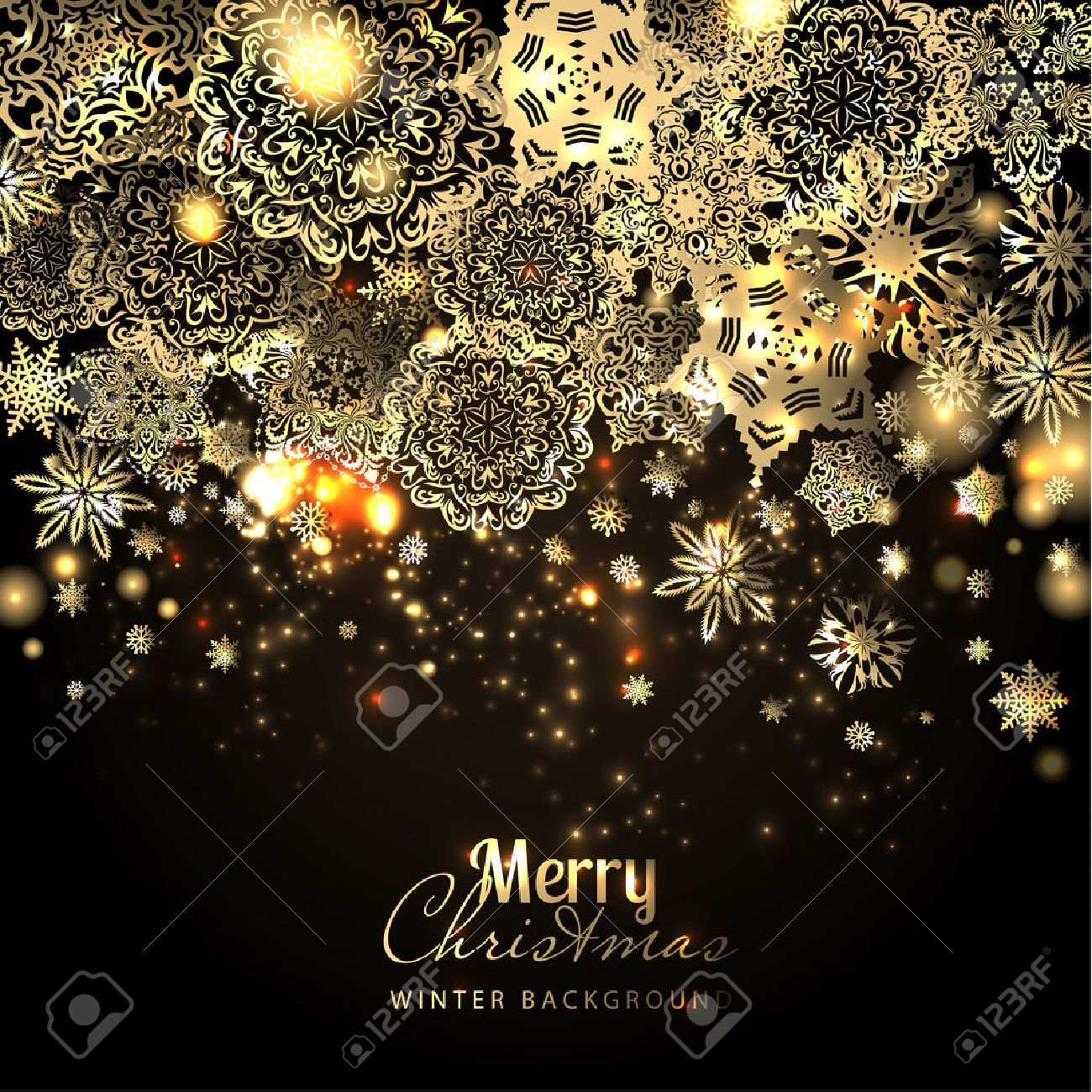 Snowflake background. Vector holiday backdrop. - 48622382