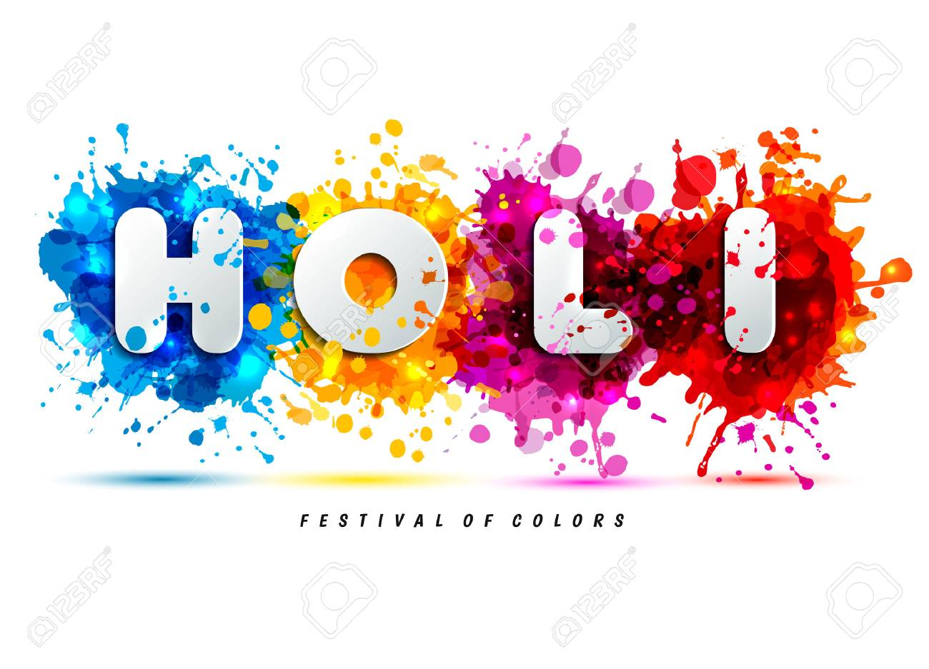 Holi Spring Festival Of Colors Design Element And Sign Holi ...
