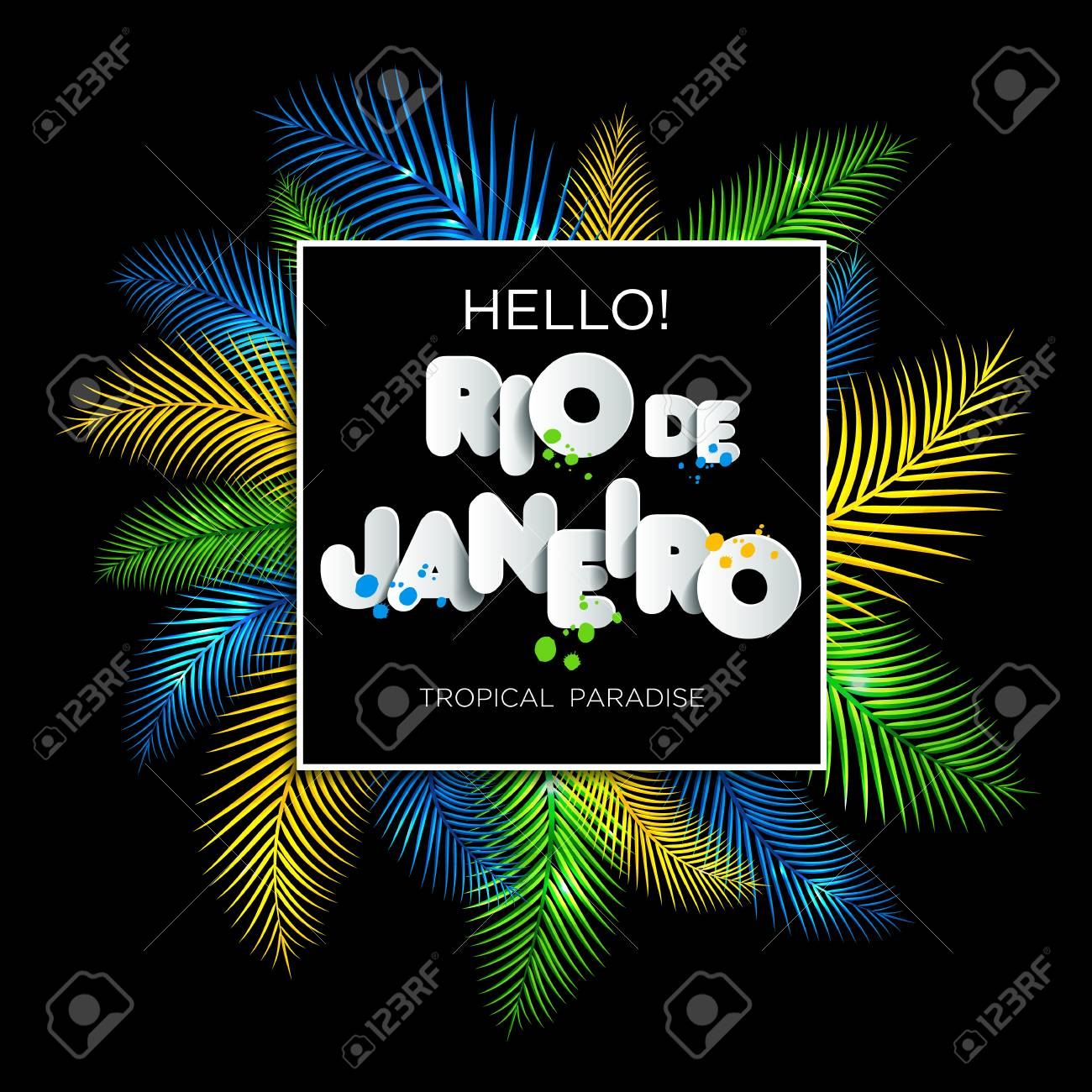 Illustration Of Rio De Janeiro From Brazil Vacation On Color Background Colors The Brazilian