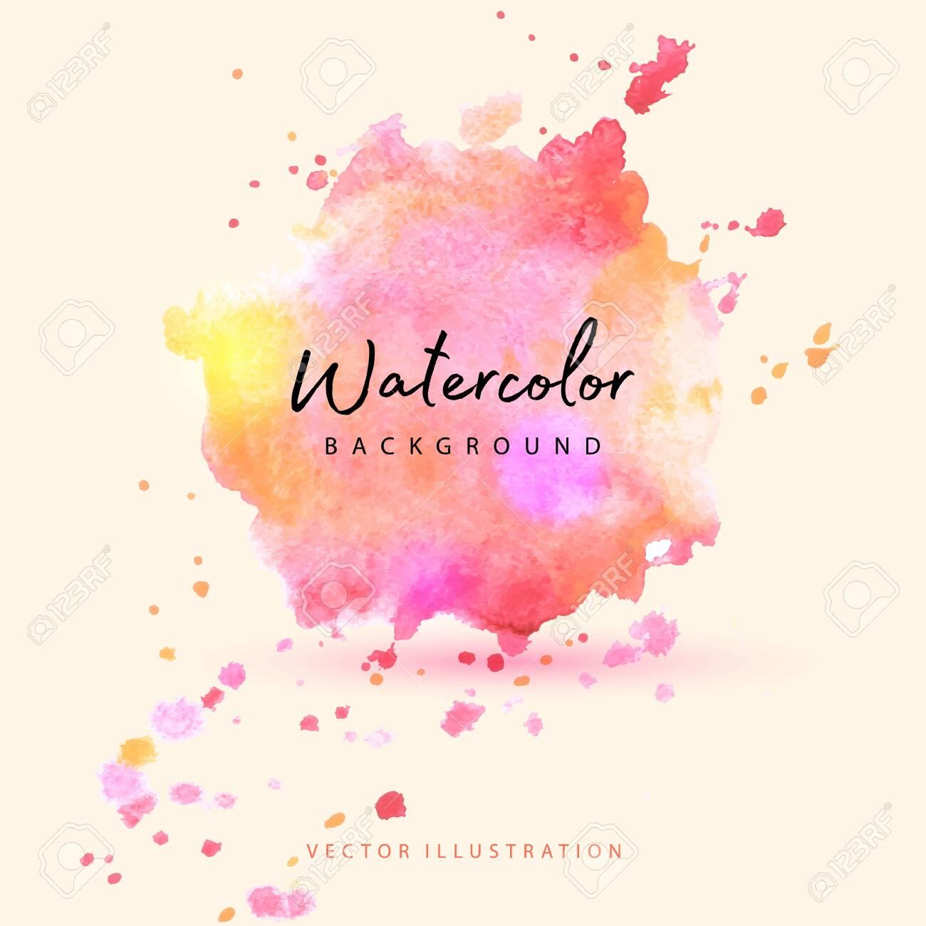 Beautiful splash of watercolor vector in pink - 122475859