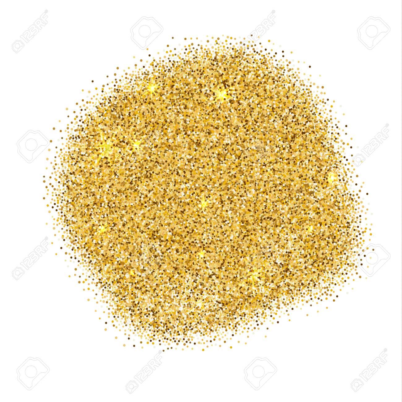 Gold sparkles on white background. Gold glitter background. - 122526507