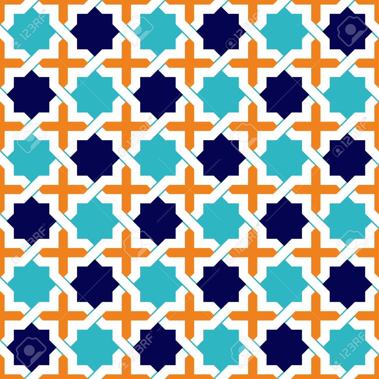 Seamless Islamic patterns in beige  Traditional muslim ornament