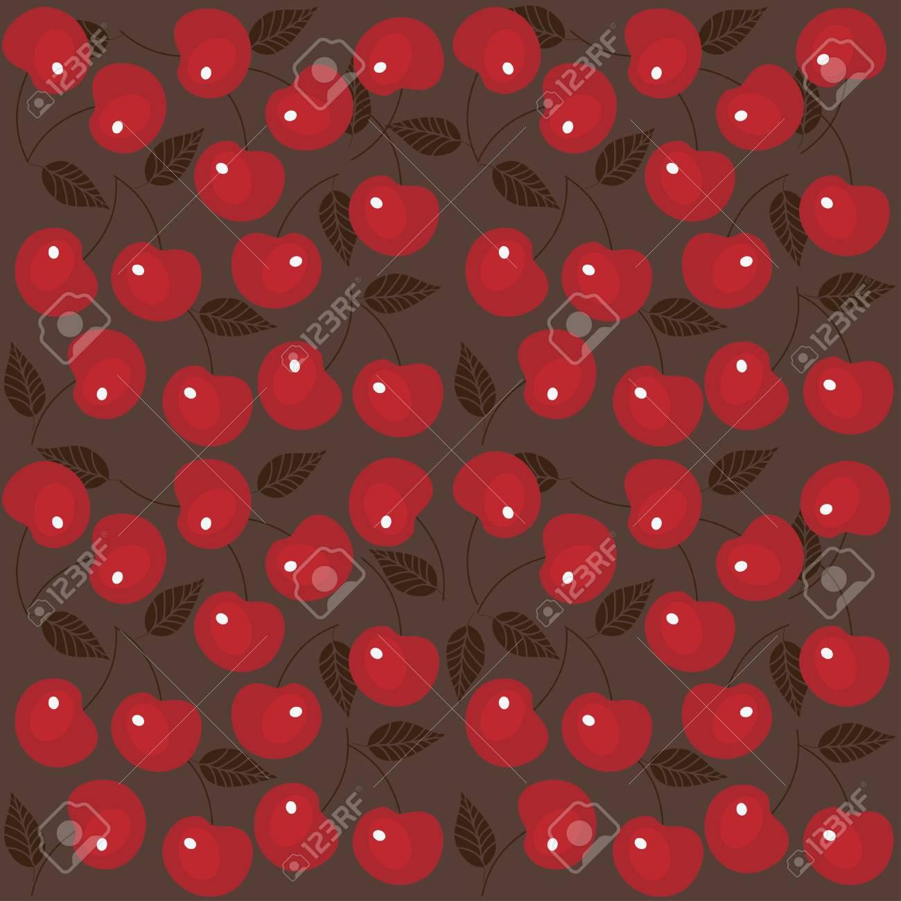 Cherry seamless background Stock Vector - 13610575