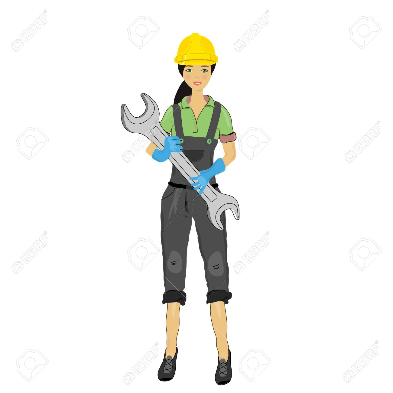 Girl Architect Clipart Architect Tools Girl in a