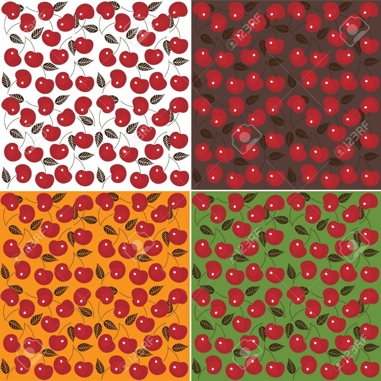 Cherry seamless background, vector image, cherry wallpaper Stock Vector - 13910221