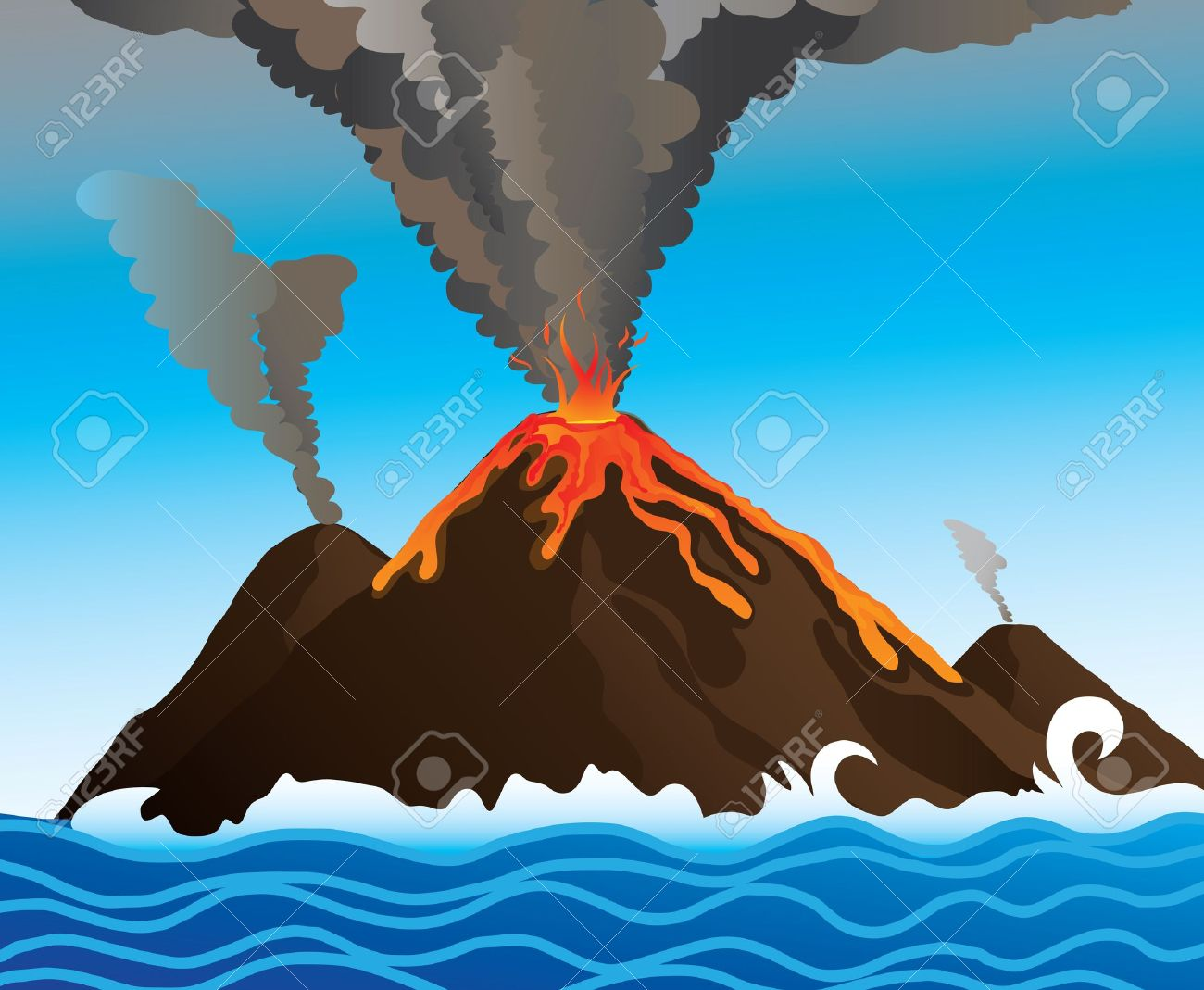 V Is For Volcano Clipart Volcano clipart 2   359 x 500