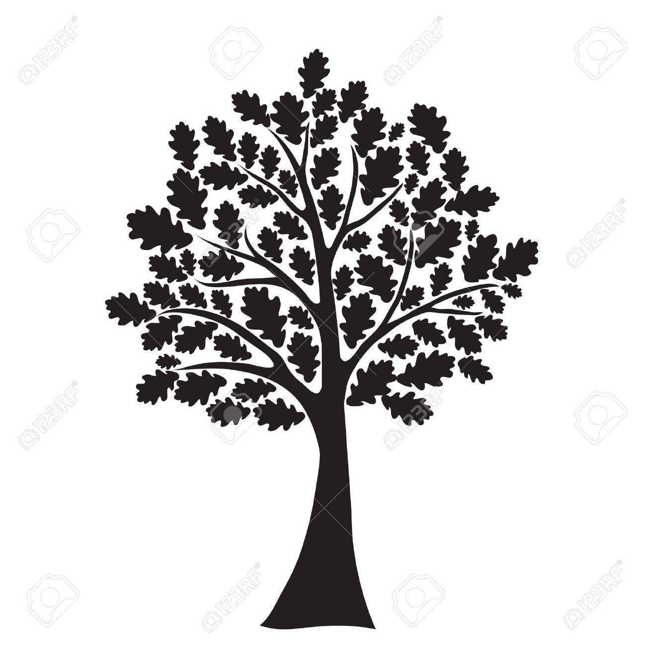 black oak tree royalty free cliparts vectors and stock rh 123rf com oak tree victorian boots oak tree vector image
