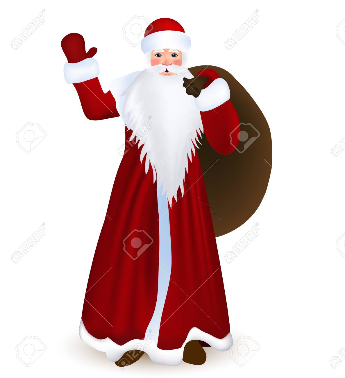 Santa Claus wishes you a Happy New Year and Merry Christmas Stock Vector - 16657149