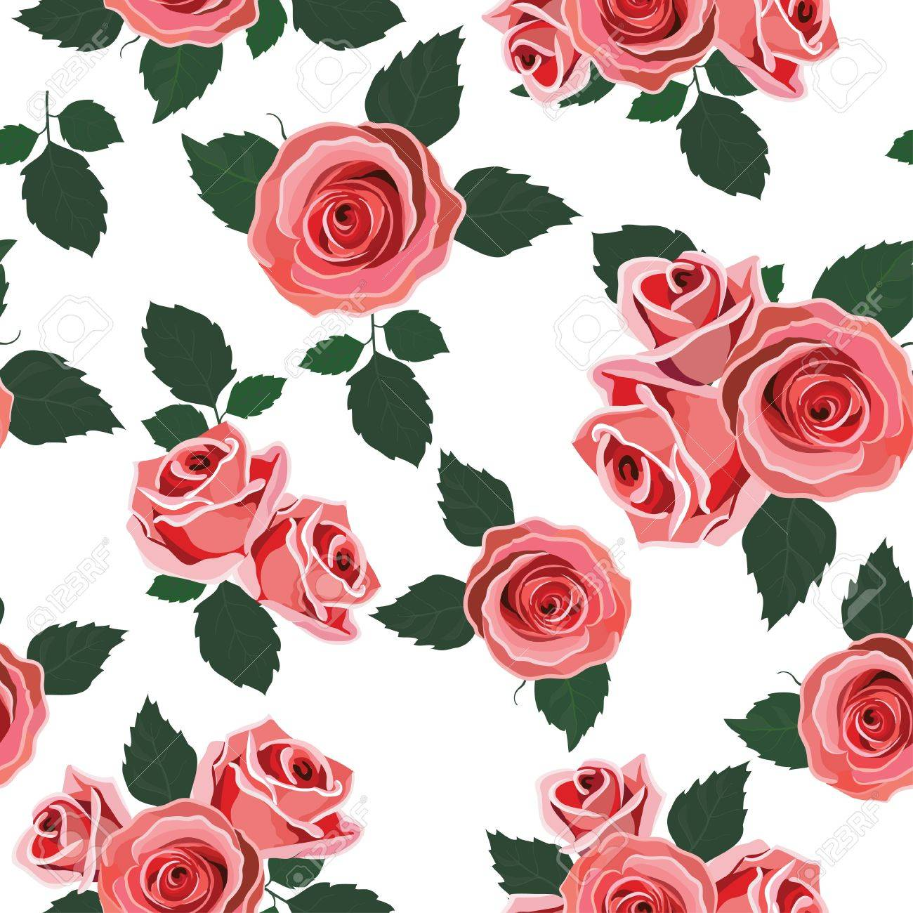 Retro Wallpaper With Roses Stock Vector