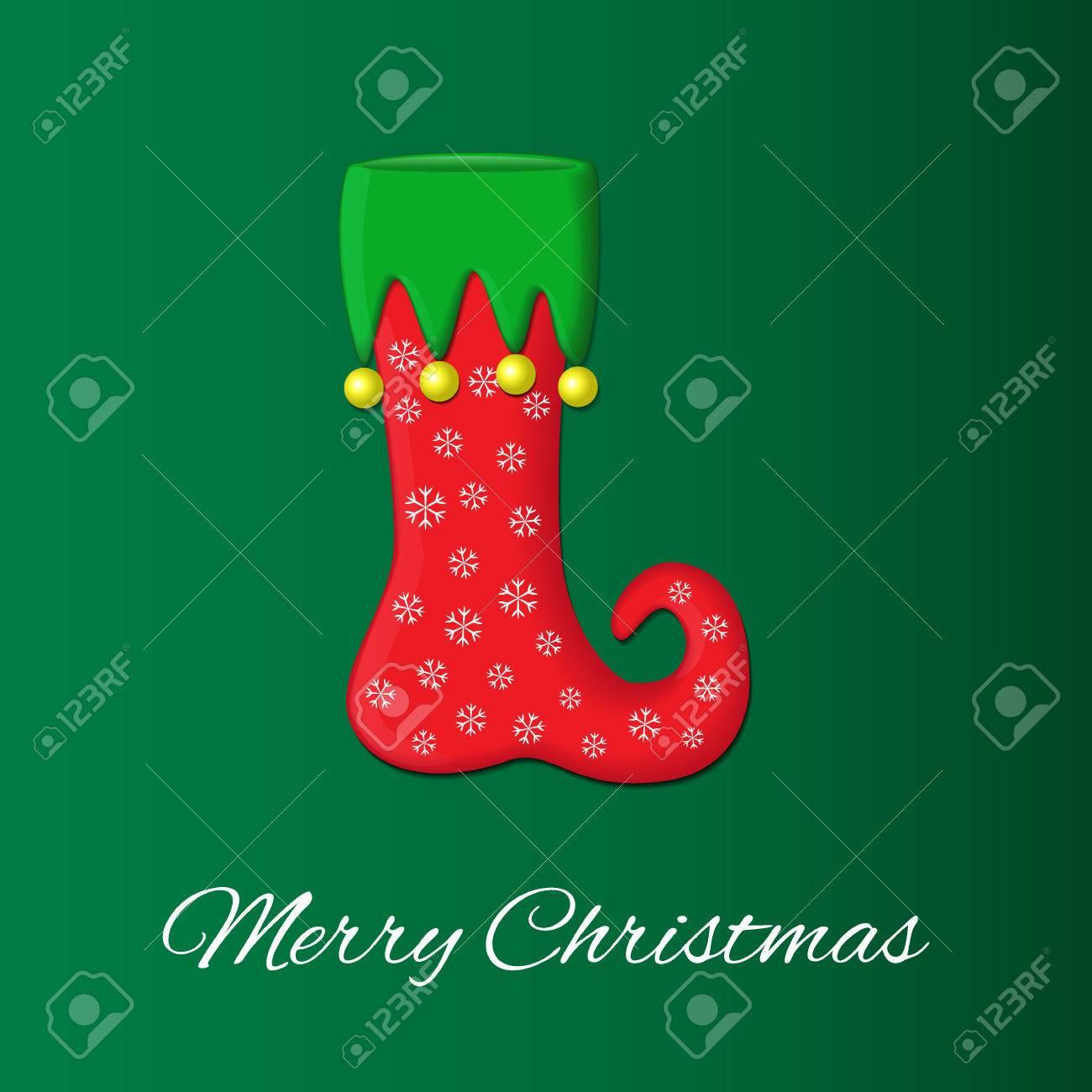 Tarjeta De Felicitacion De Navidad O Ano Nuevo S En Colores Verdes Y
