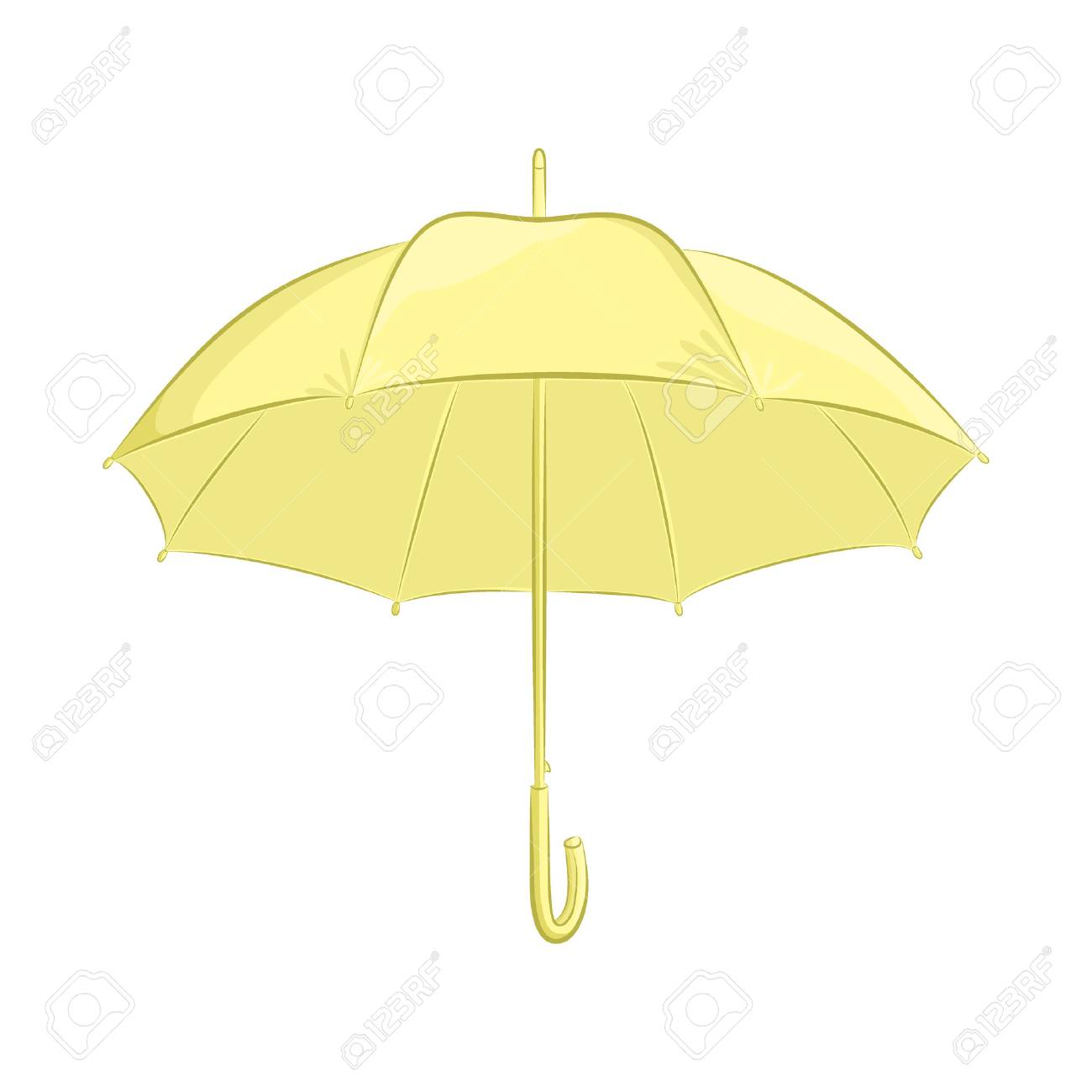 Un Parapluie Realiste Accessoire Femelle Ou Masculine L Objet