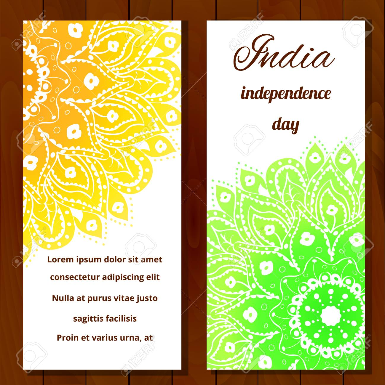 Vector Illustration For The India Independence Day 2 White Greeting