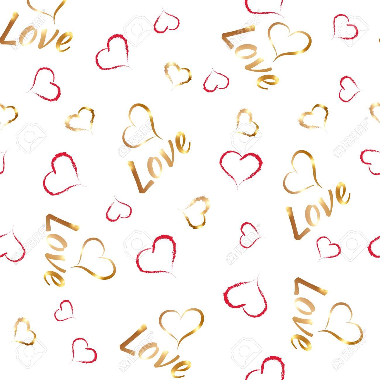 Corações Do Dia Dos Namorados E Frase Amor Vetor ícones Elementos Para Presente Romântico Cartão Postal Fundo Convite Cartão Festa De Casamento