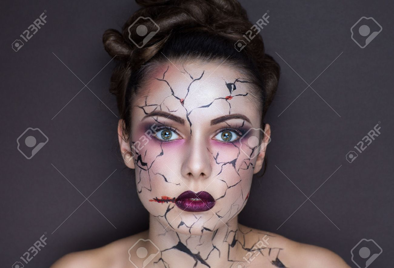 halloween makeup stock photos. royalty free halloween makeup images