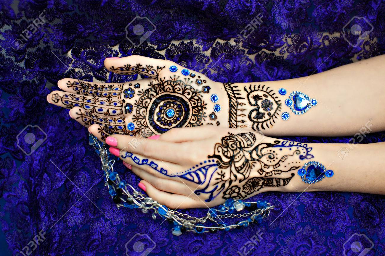 Picture On Hands Palms, Mehendi Tradition Decoration, Resistant ...