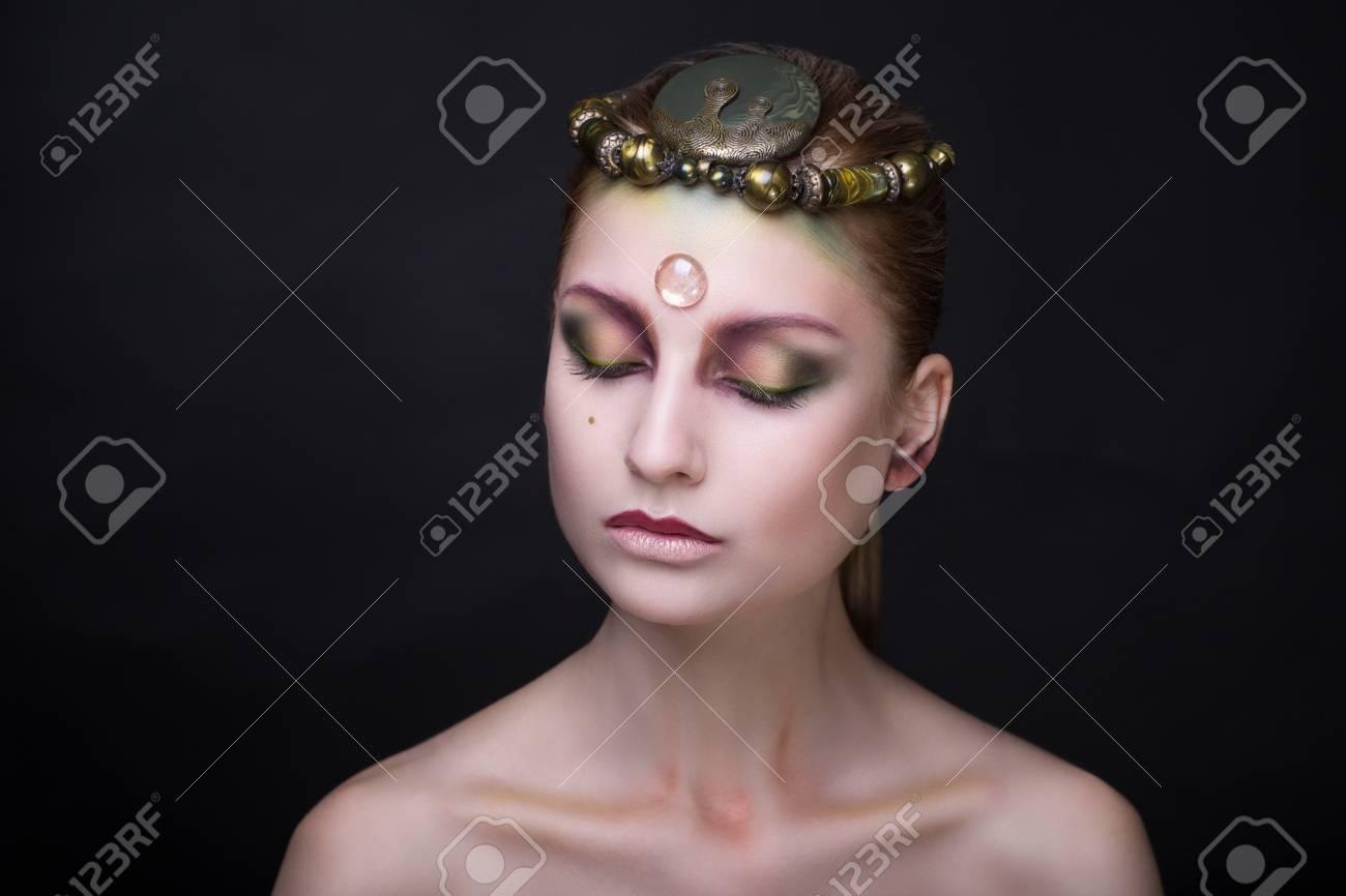Creative Makeup New Crazy Conceptual Idea For Halloween Black