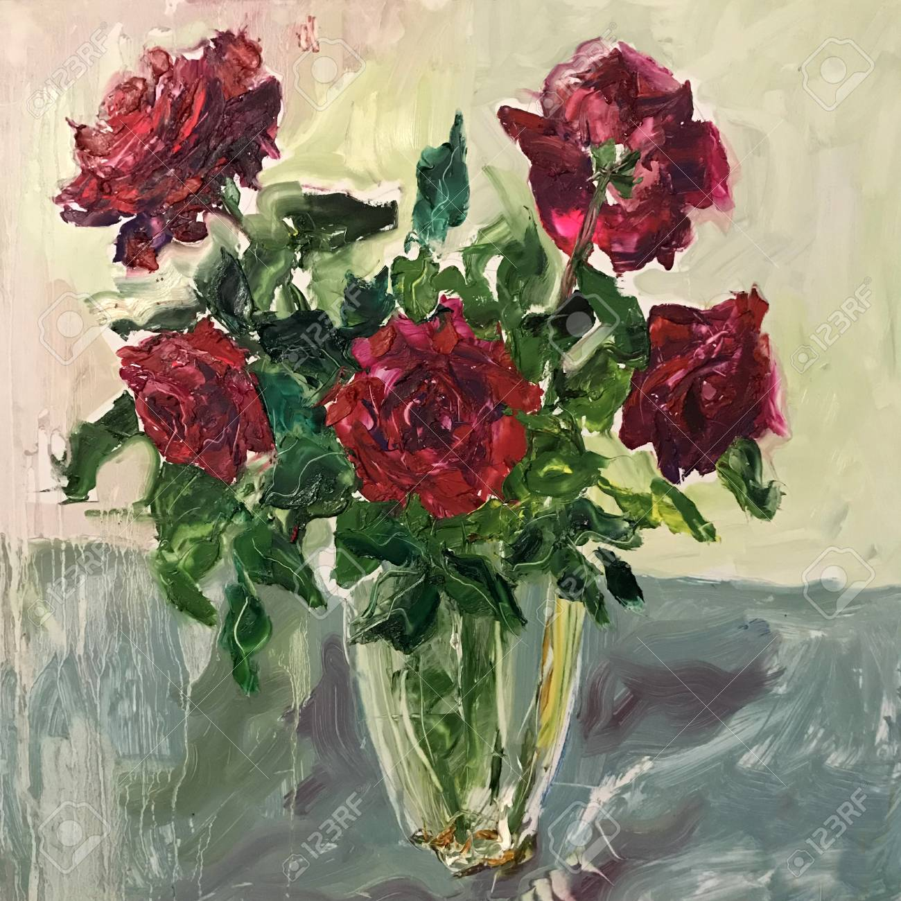 Drawing Of Red Roses Flowers Bouquet In Vase Picture Contains Stock Photo Picture And Royalty Free Image Image 115305008
