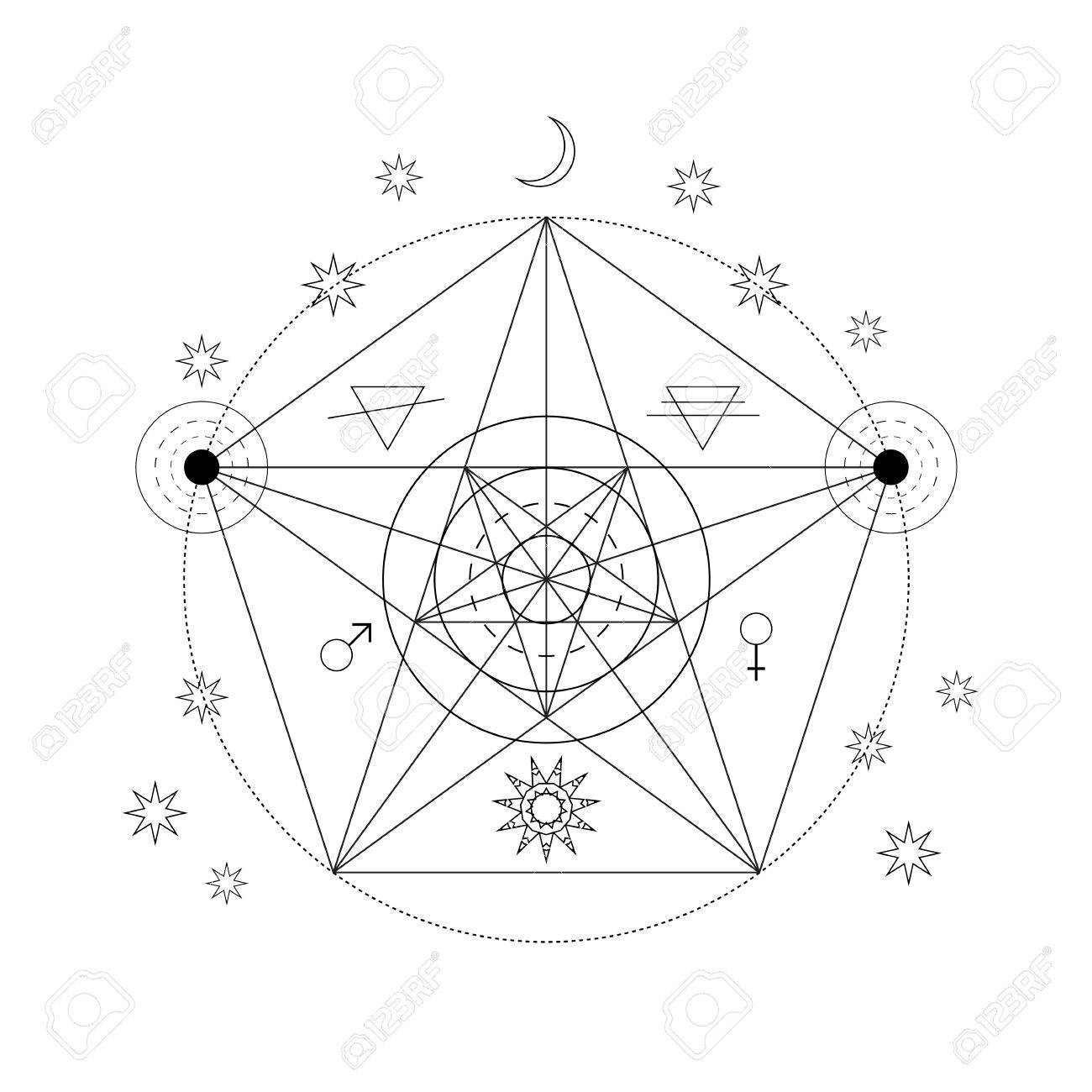 Satanic book stock photos pictures royalty free satanic book mystical geometry symbol linear alchemy occult philosophical sign for music album cover buycottarizona