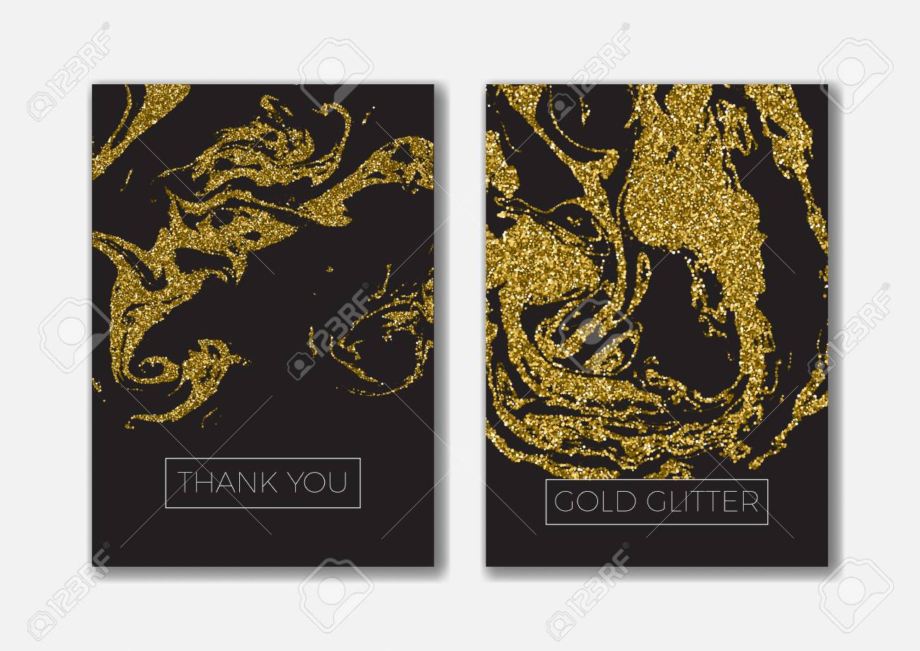 Set Of The Blank Gold Glitter Card Templates Ideally For The - Save the date baby shower email template free