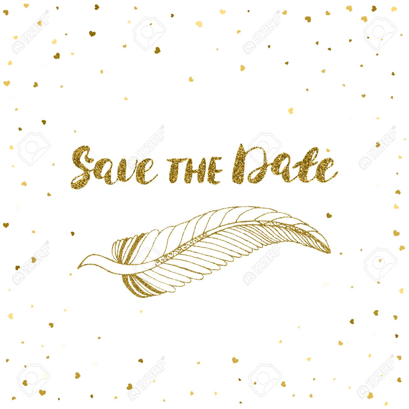 Template For Card Banner Flyer Save The Date Invitation