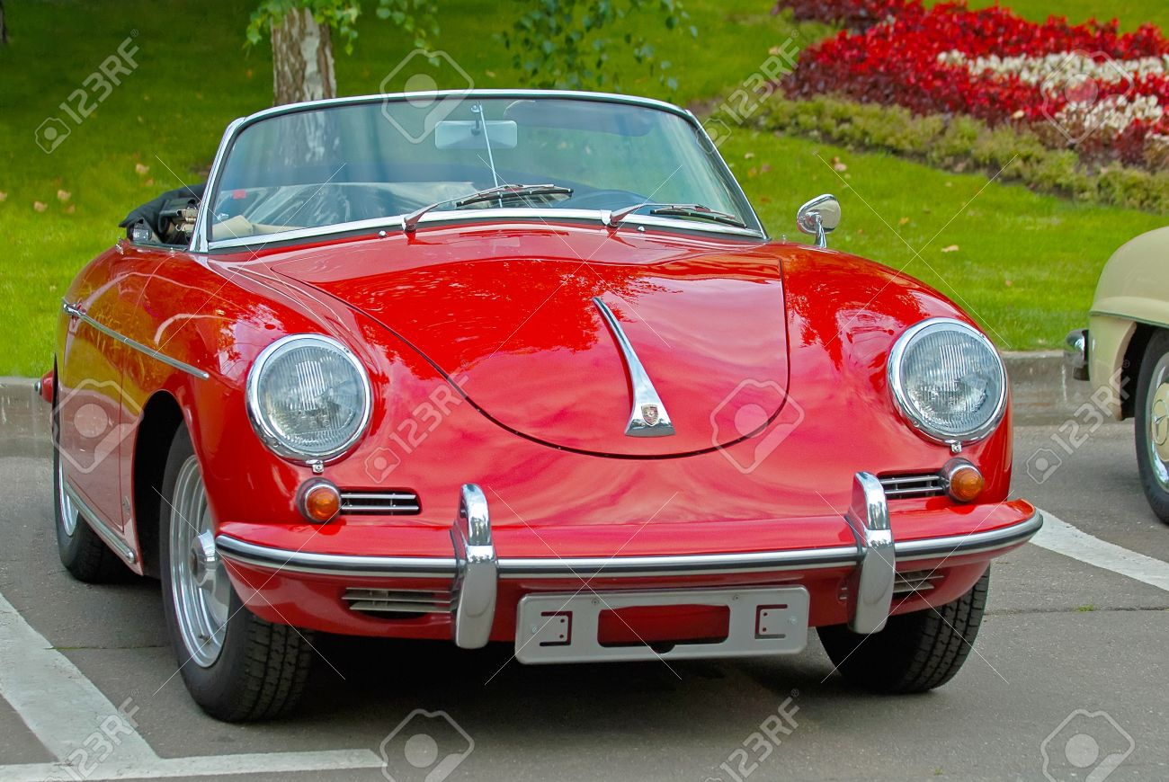 Moscow August 08 Vintage Car Porsche Convertible D 1958 Is Stock Photo Picture And Royalty Free Image Image 9205464