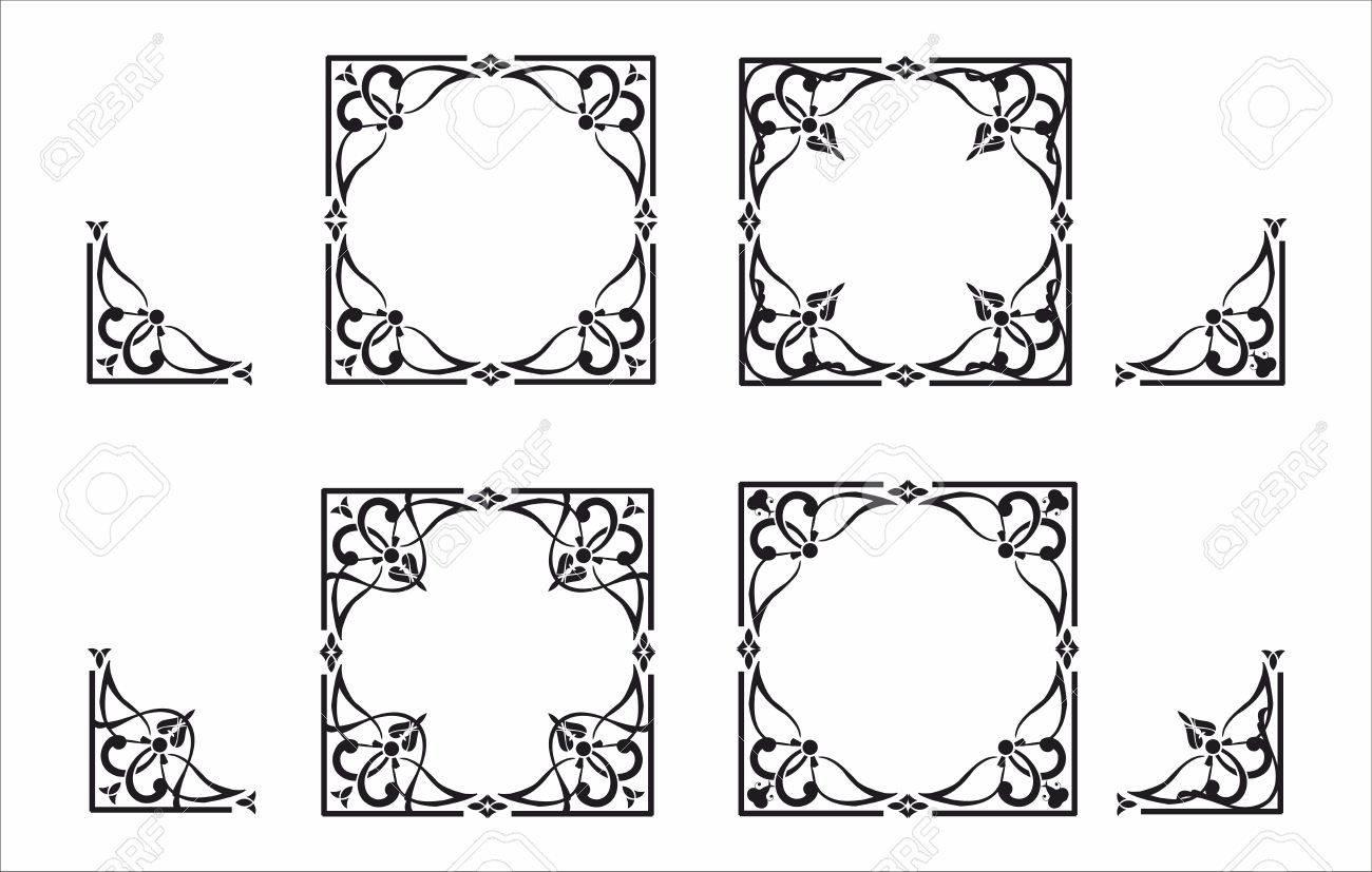 Decorative corner and frame set - 52346425