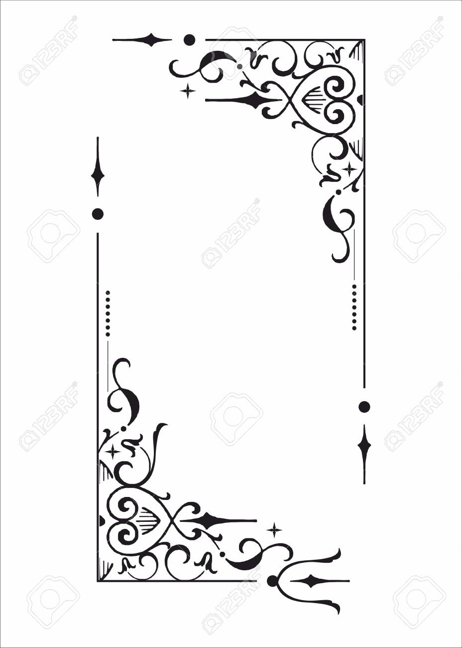 Decorative corner and frame element - 54773476