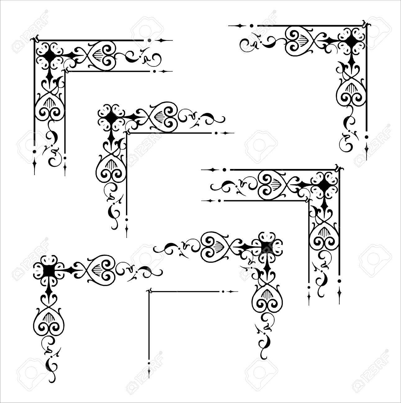 Decorative corner and frame element - 145974757