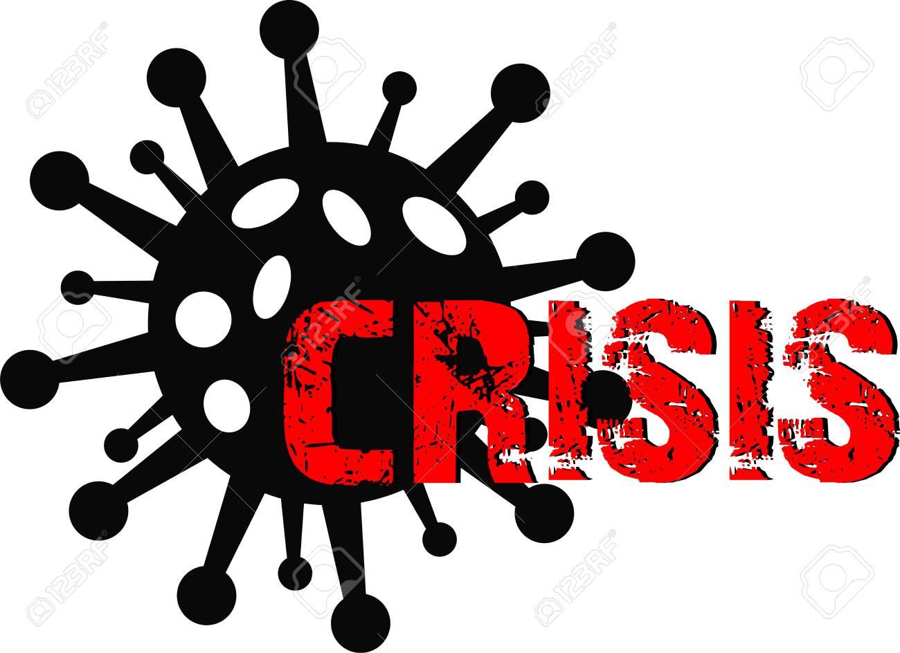Coronavirus and crisis graphic icon symbol - 148416612