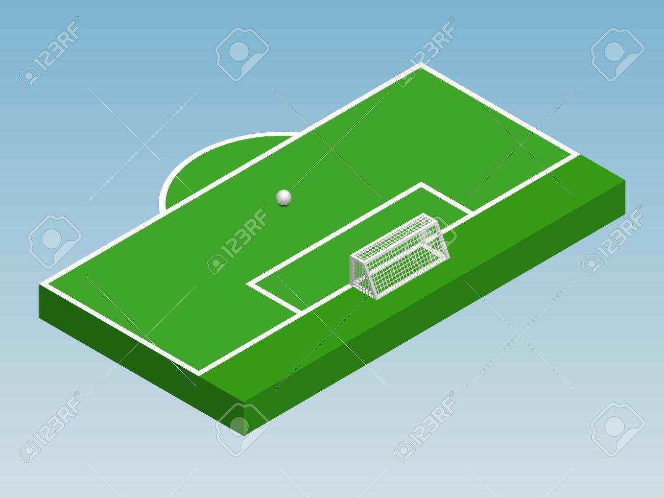 Editable soccer field diagram block and schematic diagrams 3d isometric illustration of football goal part of football rh 123rf com soccer field diagram for coaching soccer field outline maxwellsz
