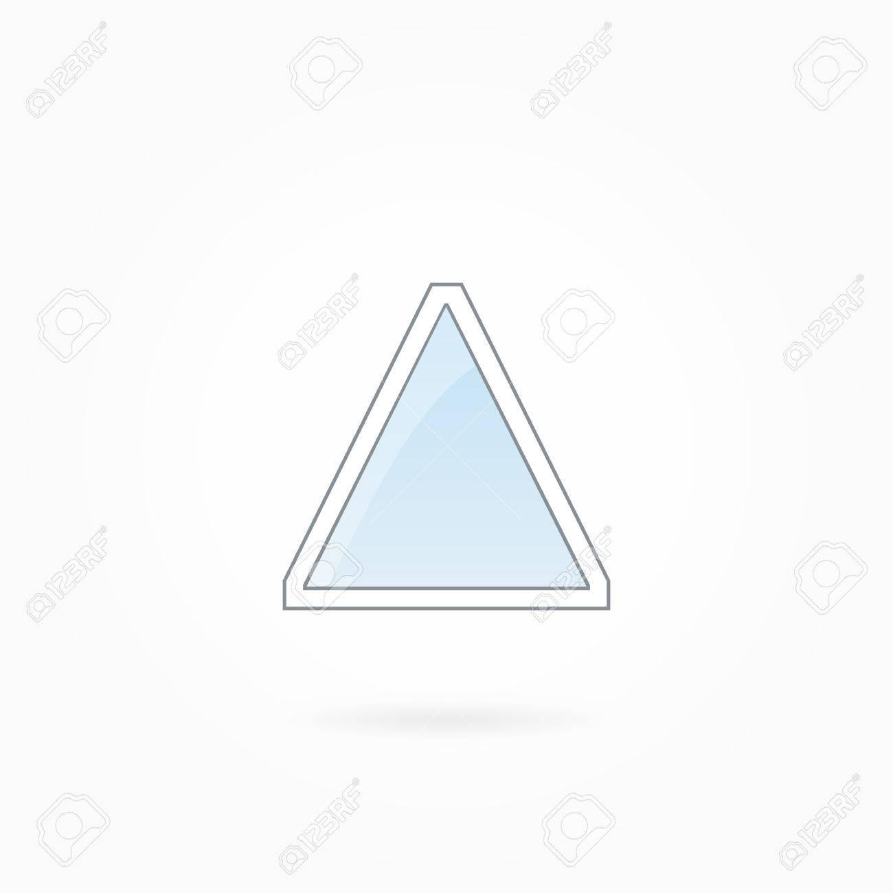 Ventana De Ilustración Vectorial Marco, Triángulo Cerrado Sola ...