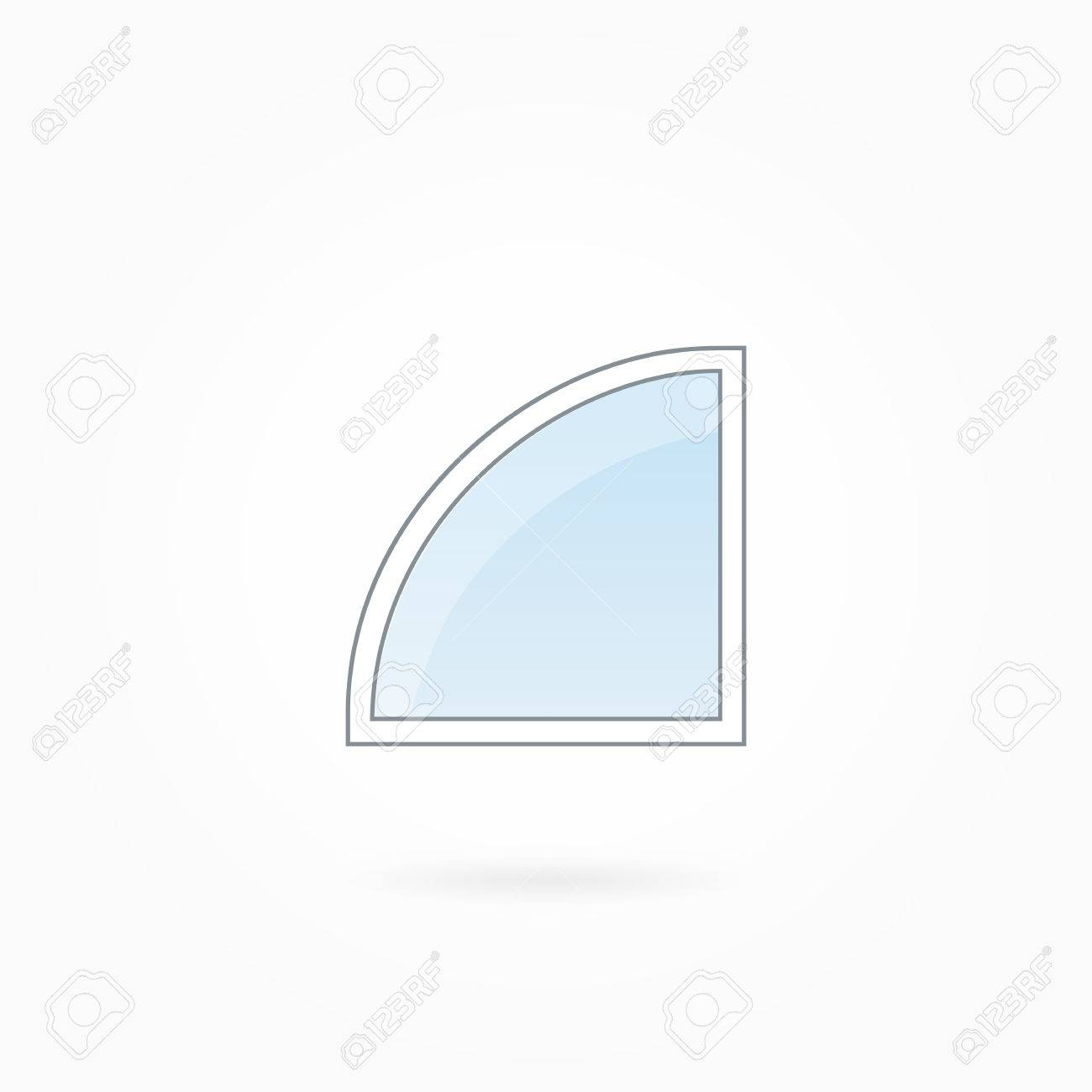 Window Frame Vector Illustration, Single Rounded Angular Closed ...