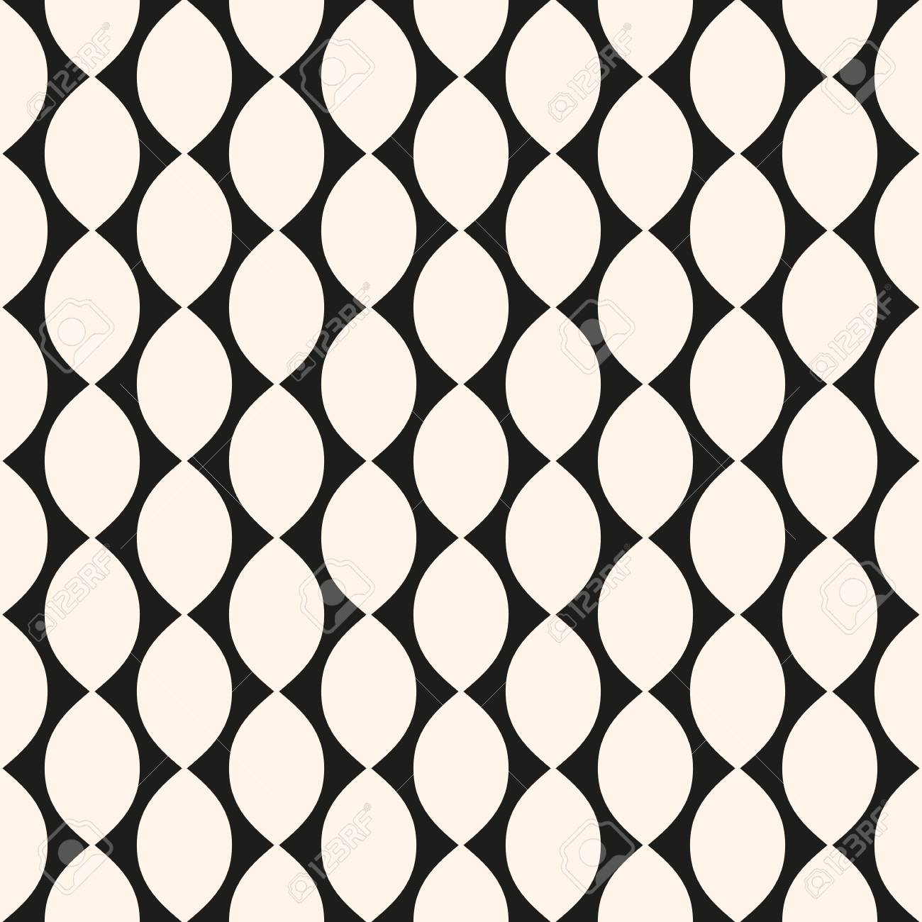 vector geometric seamless pattern with ovate shapes curved lines rh 123rf com art deco fan pattern vector art nouveau patterns vector